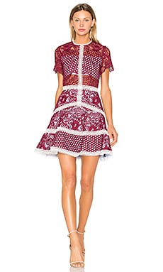 Rustikan Dress in Burgundy Mosaic