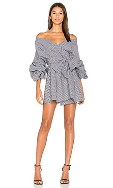 x REVOLVE Maren Dress in Black & White Gingham