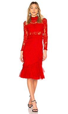 Anabella Lace Midi Dress