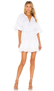 Daksha Poplin Dress With Embroidery Trim Alexis $396 BEST SELLER