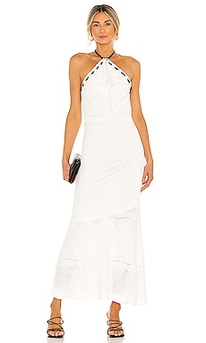 Ibada Knit Halter Long Dress Alexis $440 NEW