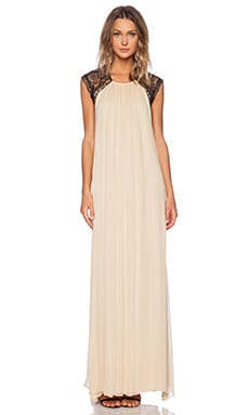 Gela Open Back Gown in Nude