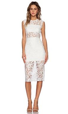 Alexis Leni Midi Dress in White
