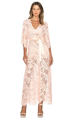 Alexis Keven Maxi Dress in Blush Leaf