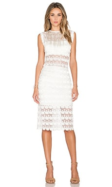 Alexis x REVOLVE Kayo Fringe Midi Dress in White