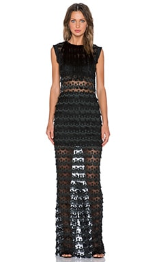 Alexis Maverick Fringe Maxi Dress in Black