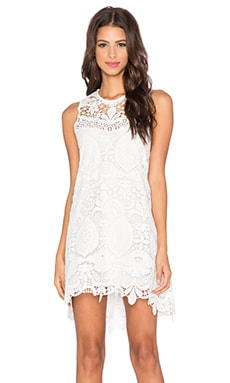 Alexis Lira Open Back Dress in White Crochet
