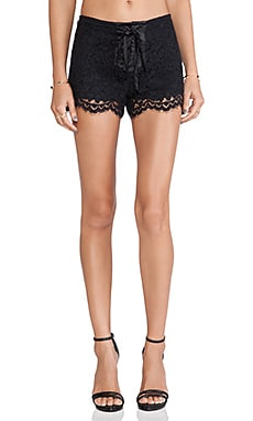 Alexis Martinique Lace Shorts in Black Lace