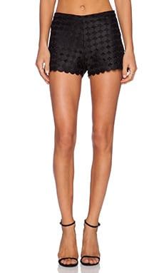 Alexis Pia Embroidered Shorts in Black