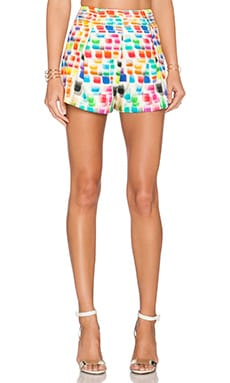 Alexis Maika Pleated Shorts in Brushstroke of Color
