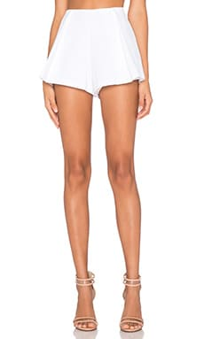 Alexis Lef Pleated Short in White
