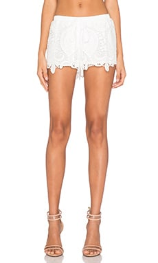 Alexis Lini Short in White Crochet