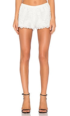 Alexis Gillian Crochet Short in White Crochet