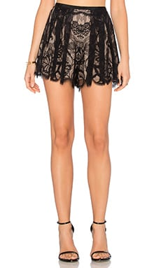 Kass Short in Black Lace