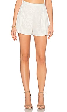 Macia Short in White Macrame