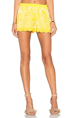 Catlin Short en Yellow Embroidery