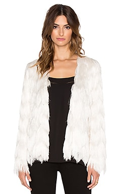 Alexis Florin Fringe Jacket in Cream