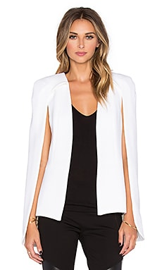 Alexis Lenore Slit Back Cape in Ivory