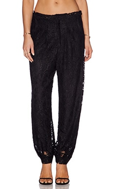 Alexis Jared Lace Track Pant in Black