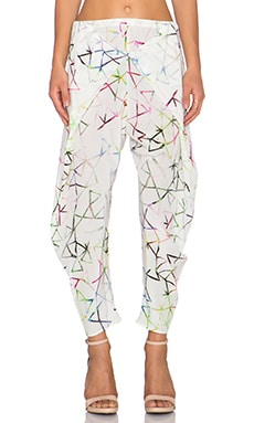 Alexis Levi Cross Over Pant in Aquarelle