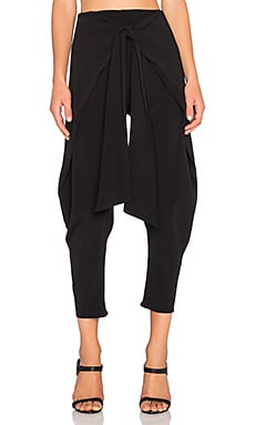 Alexis Nikos Cross Over Tie Front Pant in Black