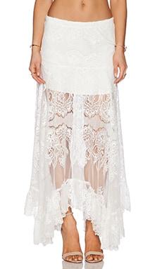 Alexis Gordan Lace Maxi Skirt in White