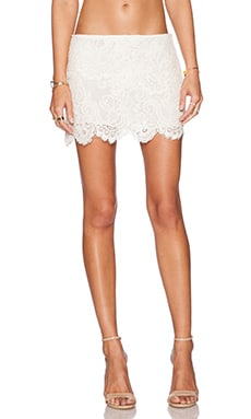 Alexis Zuma Lace Skirt in Cream Embroidery