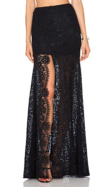 Alexis Hermes Lace Maxi Skirt in Black