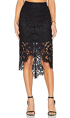Alexis Wendy Skirt in Black Lace