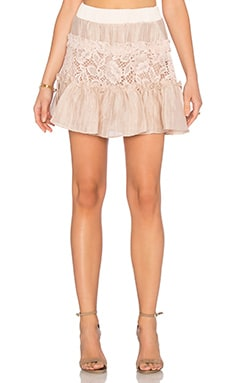 Mallory Skirt in Blush Lace