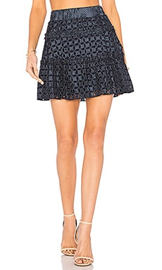 Antonina Skirt in Navy Dot