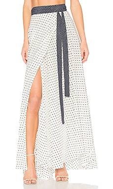 Corinna Skirt in White & Black Dot