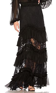 Фото - Кружевная юбка zella - Alexis черного цвета
