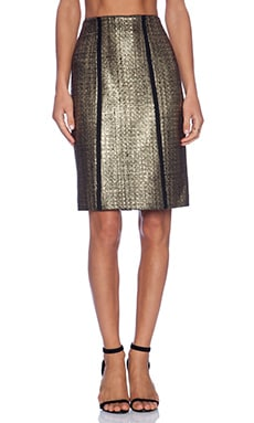 Alexis Nita Pencil Skirt in Metallic Tweed