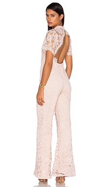 Kelie Jumpsuit in Blush Lace