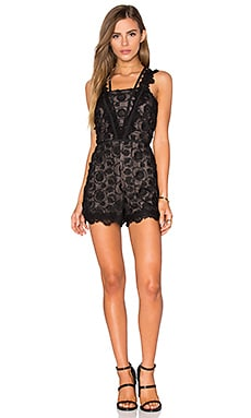Camil Romper in Black Lace
