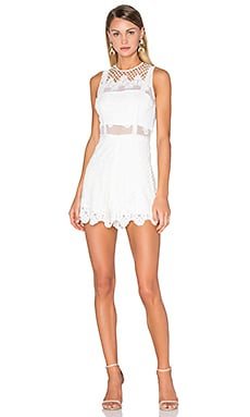 Alexis Gizela Romper in White Embroidery