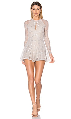 Chanelle Romper in Silver Blush