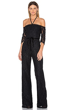 Joaquin Jumpsuit in Black Lace