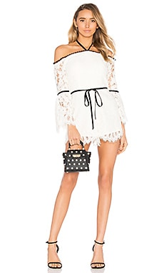 Layla Romper in White Lace
