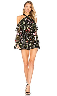Brenna Romper in Black Garden