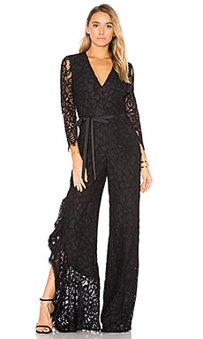 Rosario Jumpsuit in Black Lace