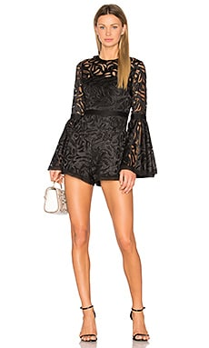 Rihanne Romper in Black Lace
