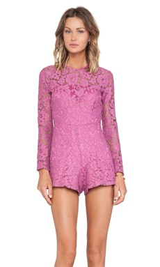 Alexis Izu Lace Romper in Orchid Lace