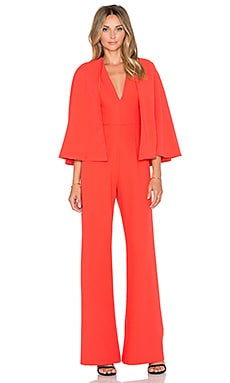 Alexis Amadeo Revolve Cape Jumpsuit in Tangerine