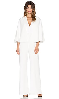 Alexis Amadeo Removable Cape Jumpsuit in White