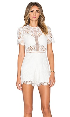 Brias Romper en Off White Lace