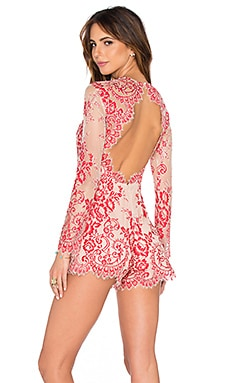 Alexis Li Romper Lace in Red