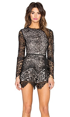 Alexis Izu Romper in Black