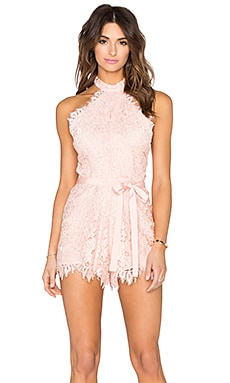 Alexis Margot Romper in Blush Lace